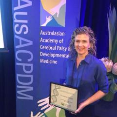 Dr Joanne George was awarded the Promising Career Award at AusACPDM 2018.