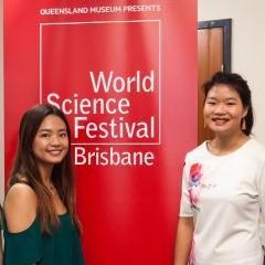 Nataya Branjerdporn as finalist in 2018 Queensland Women in STEM competition (third from left).